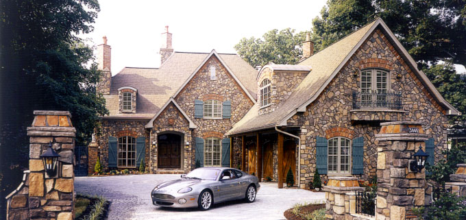 This is an image of a house that Custom Stone Works has done work on